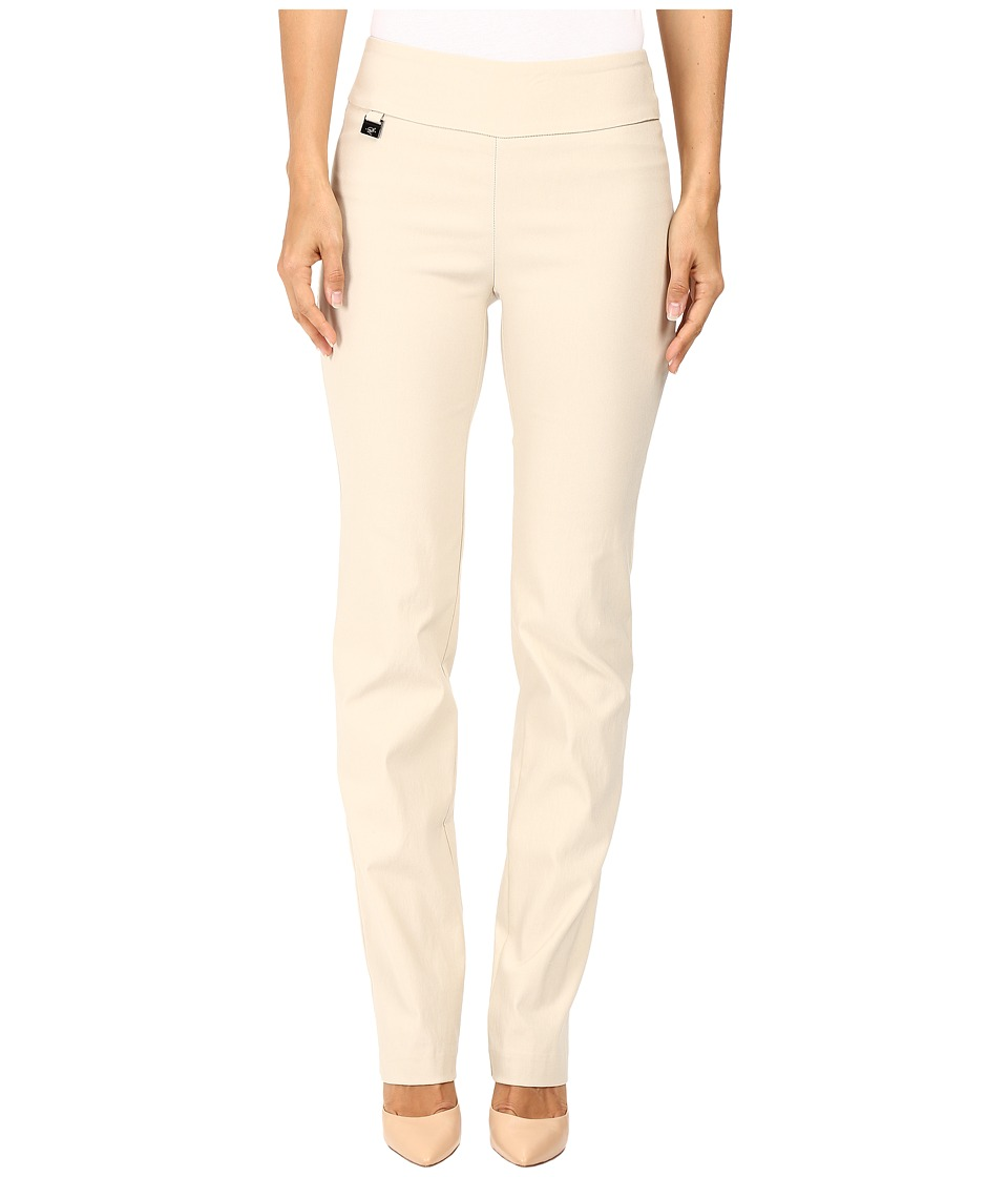 Lisette L Montreal - Solid Magical Lycra True Straight (Beige) Women's Casual Pants