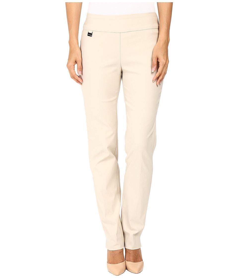 Lisette L Montreal - Solid Magical Lycra Slim Pants (Beige) Women's Casual Pants