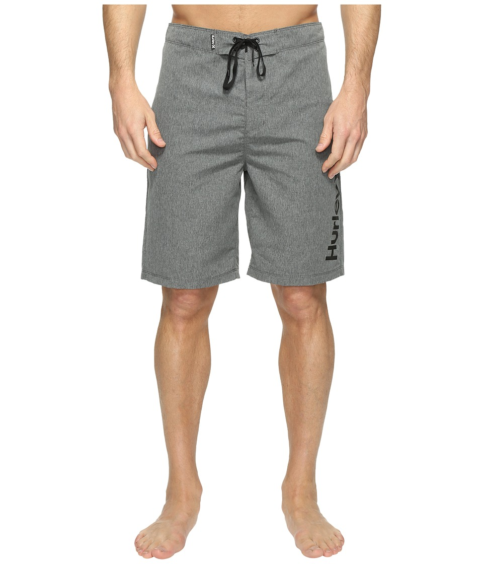Hurley - One Only Heather 2.0 Boardshorts 21 (Black) Men's Swimwear