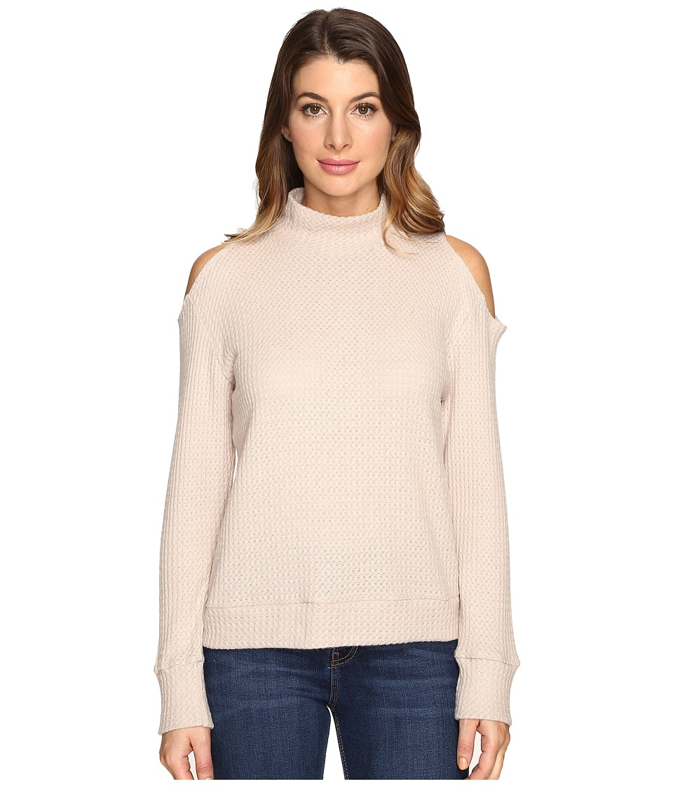 LNA - Open Shoulder Turtleneck (Sand) Women's Clothing