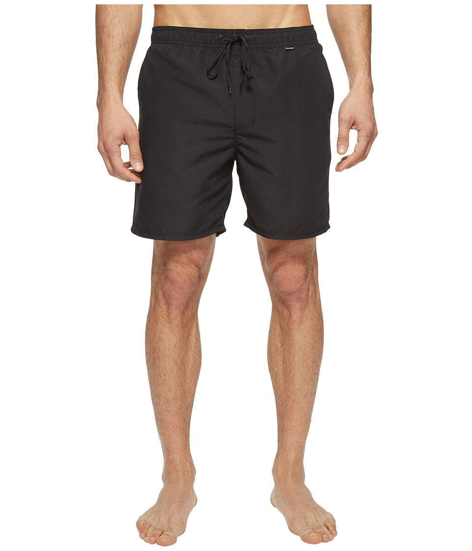 Hurley - One Only Volley 2.0 17 (Black) Men's Swimwear