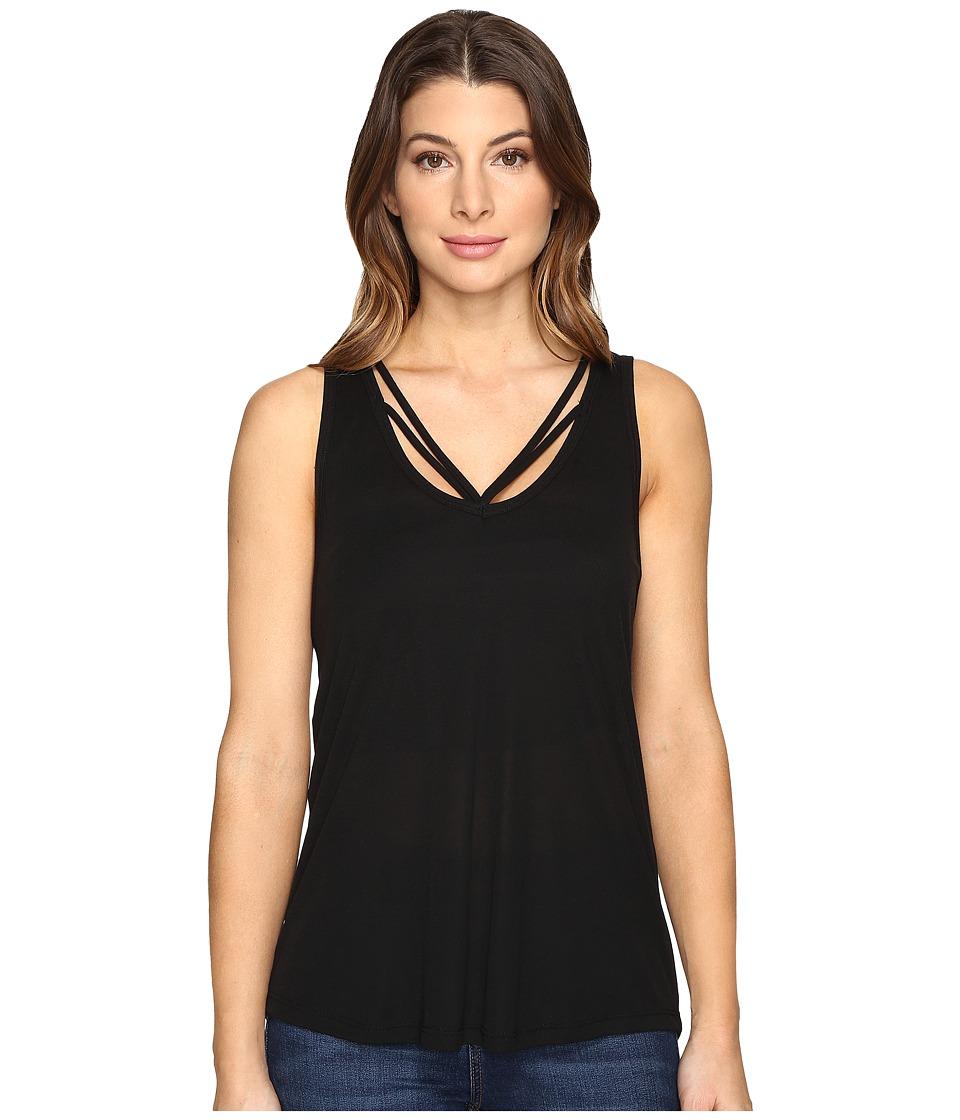 LNA - Double Strap Tank Top (Black) Women's Sleeveless