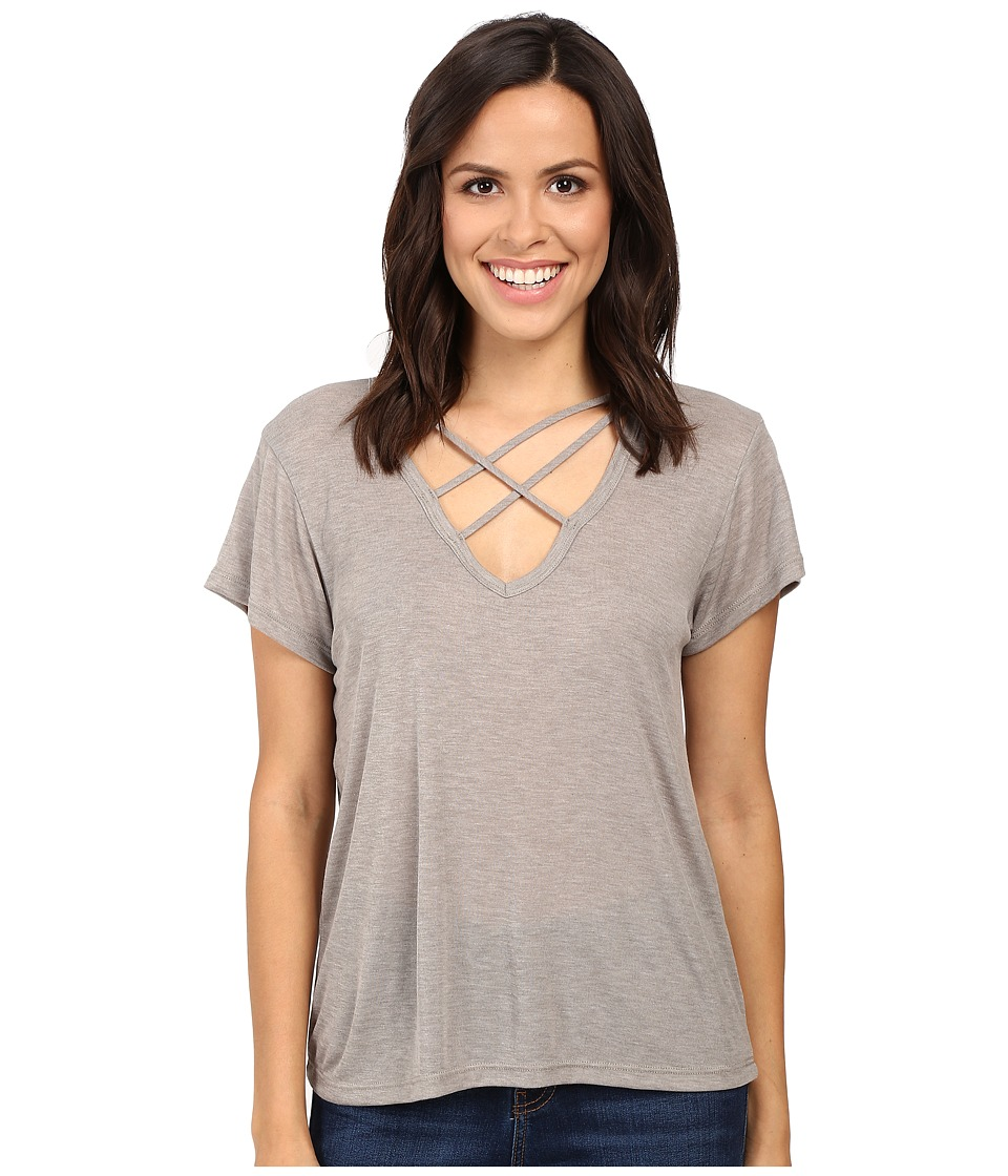 LNA - Triple Cross Tee (Bark) Women's T Shirt