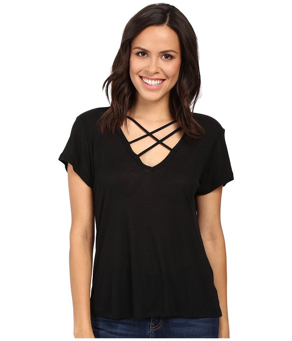 LNA - Triple Cross Tee (Black) Women's T Shirt