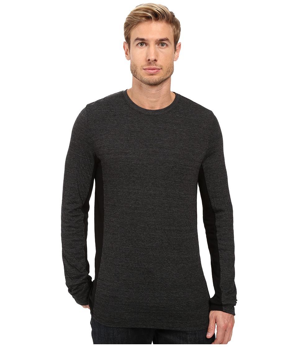 Michael Stars - Long Sleeve Crew Neck Tee (Black) Men's T Shirt