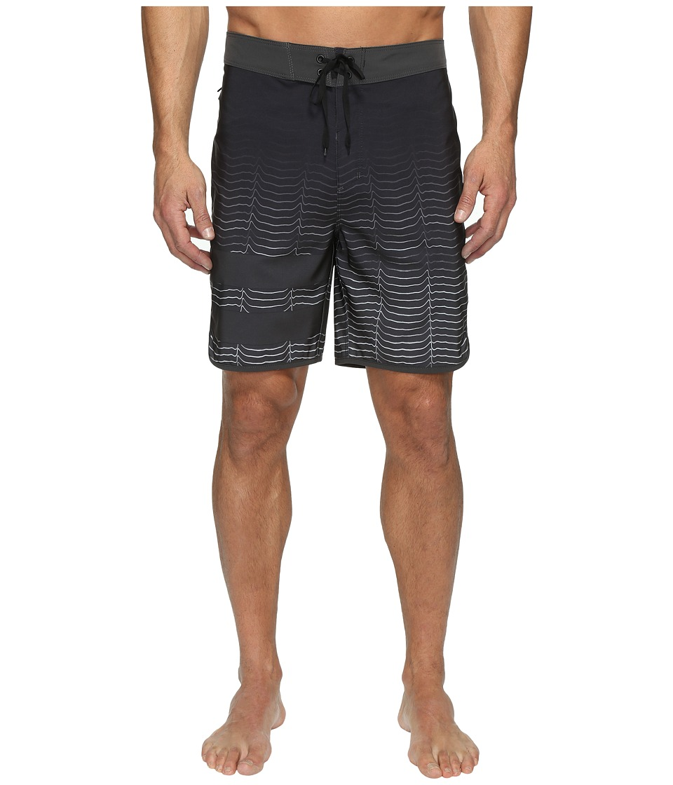 Hurley - Phantom Block Party Speed (Black) Men's Swimwear