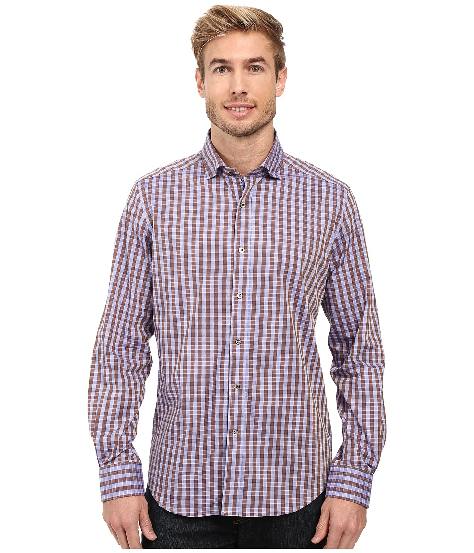 Robert Graham - Corin Long Sleeve Woven Shirt (Lavender) Men's Long Sleeve Button Up