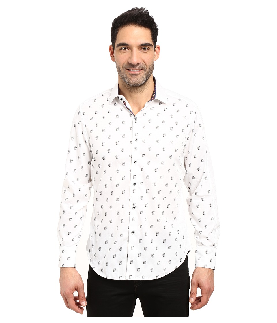 Robert Graham - Davide Long Sleeve Woven Shirt (White) Men's Clothing