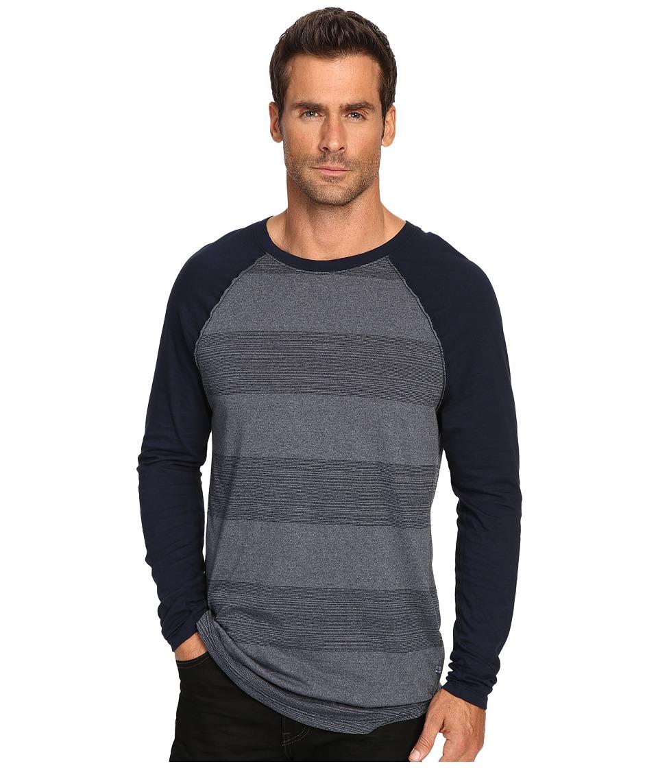 Michael Stars Long Sleeve Raglan Tee (Navy) Men's T Shirt