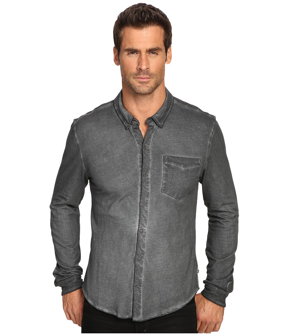 Michael Stars - Button Down Shirt (Graphite) Men's Clothing