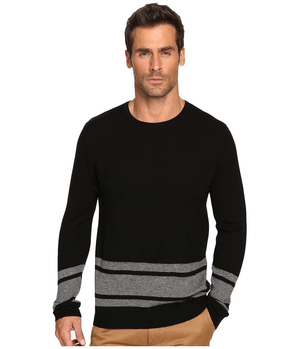 Michael Stars - Blanket Stripe Sweater (Black/Derby Grey) Men's Sweater