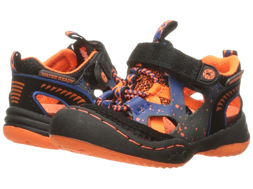 Jambu Kids Squamata (Toddler) (Black/Orange) Boys Shoes
