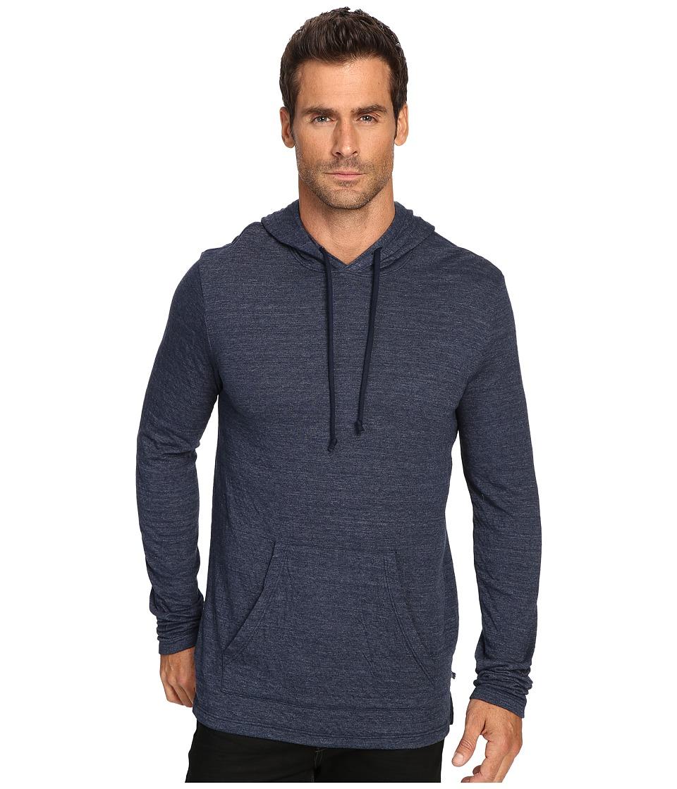 Michael Stars Long Sleeve Hoodie (Navy) Men's Sweatshirt