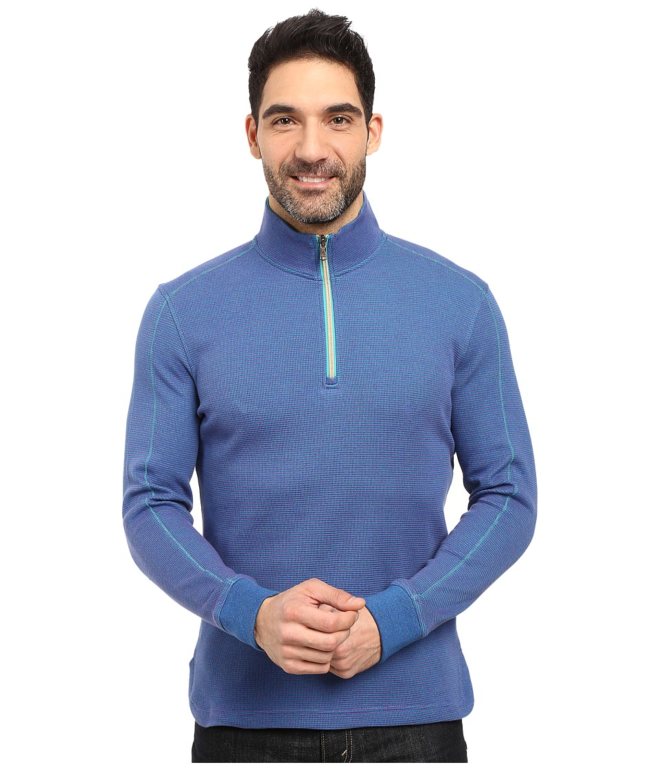 Robert Graham - Ricci 1/2 Zip Sweater (Teal) Men's Sweater