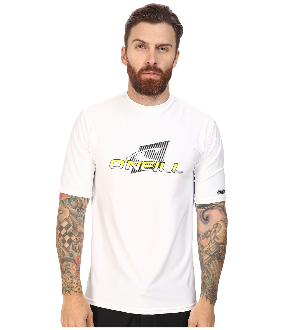 O'Neill - Team Wave Short Sleeve Rash Tee (White) Men's Swimwear