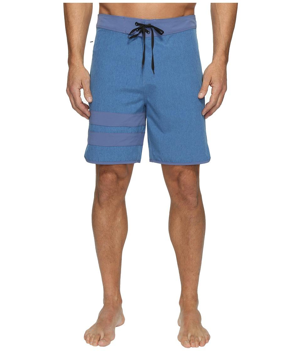 Hurley - Phanton Block Party Heather 2.0 (Blue Moon) Men's Swimwear