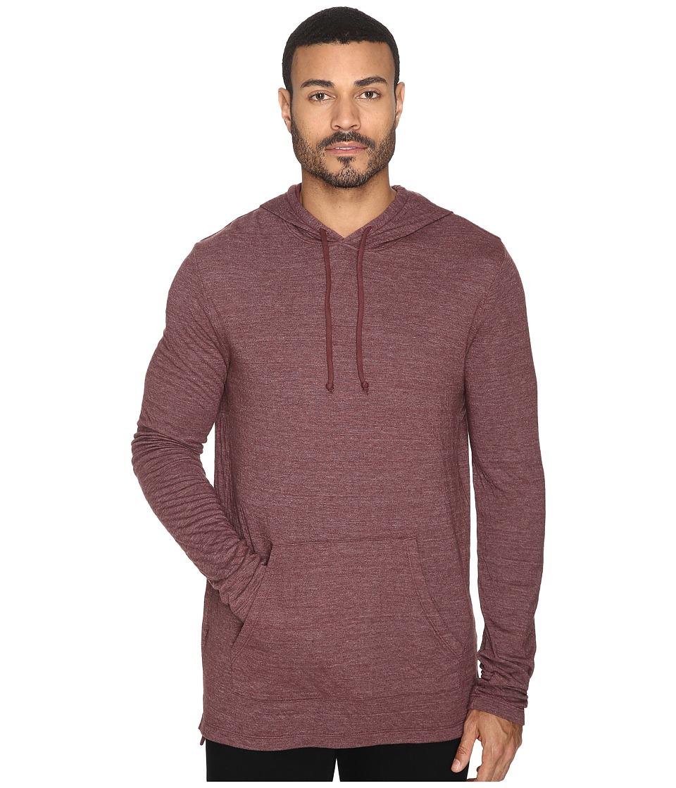 Michael Stars Long Sleeve Hoodie (Rosewood) Men's Sweatshirt