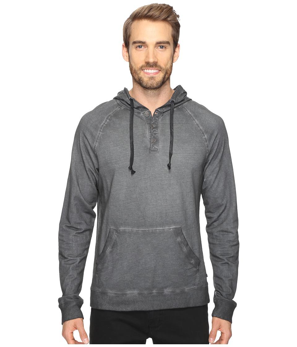 Michael Stars - Pullover Henley Hoodie (Graphite) Men's Sweatshirt