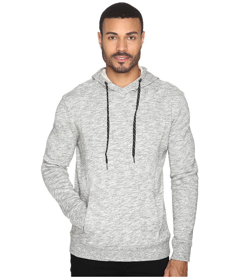 Michael Stars - Cross Neck Pullover Hoodie (Heather Grey) Men's Sweatshirt