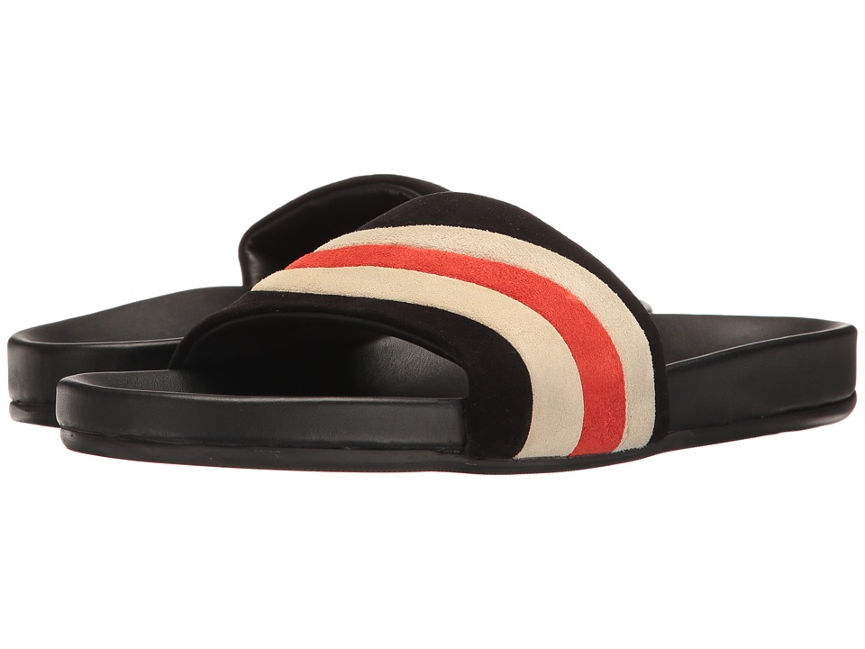 Marc Jacobs Suede Wave Sandal (Black/White) Men