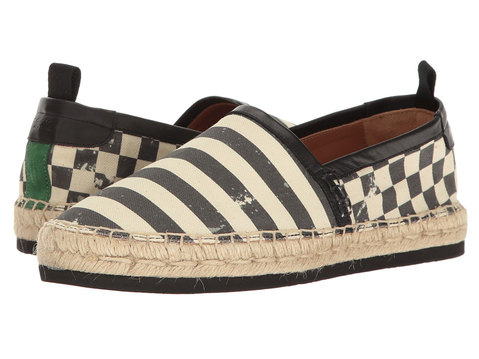 Marc Jacobs Distressed Canvas Espadrille (Stripe/Check) Men