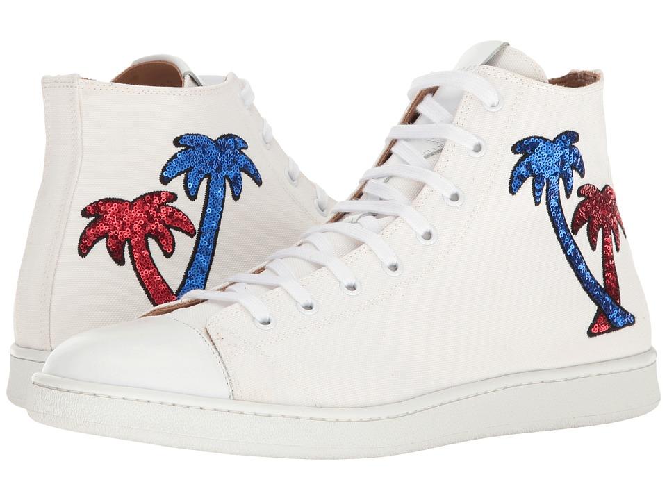 Marc Jacobs - Canvas Palm High Top (White) Men's Lace up casual Shoes