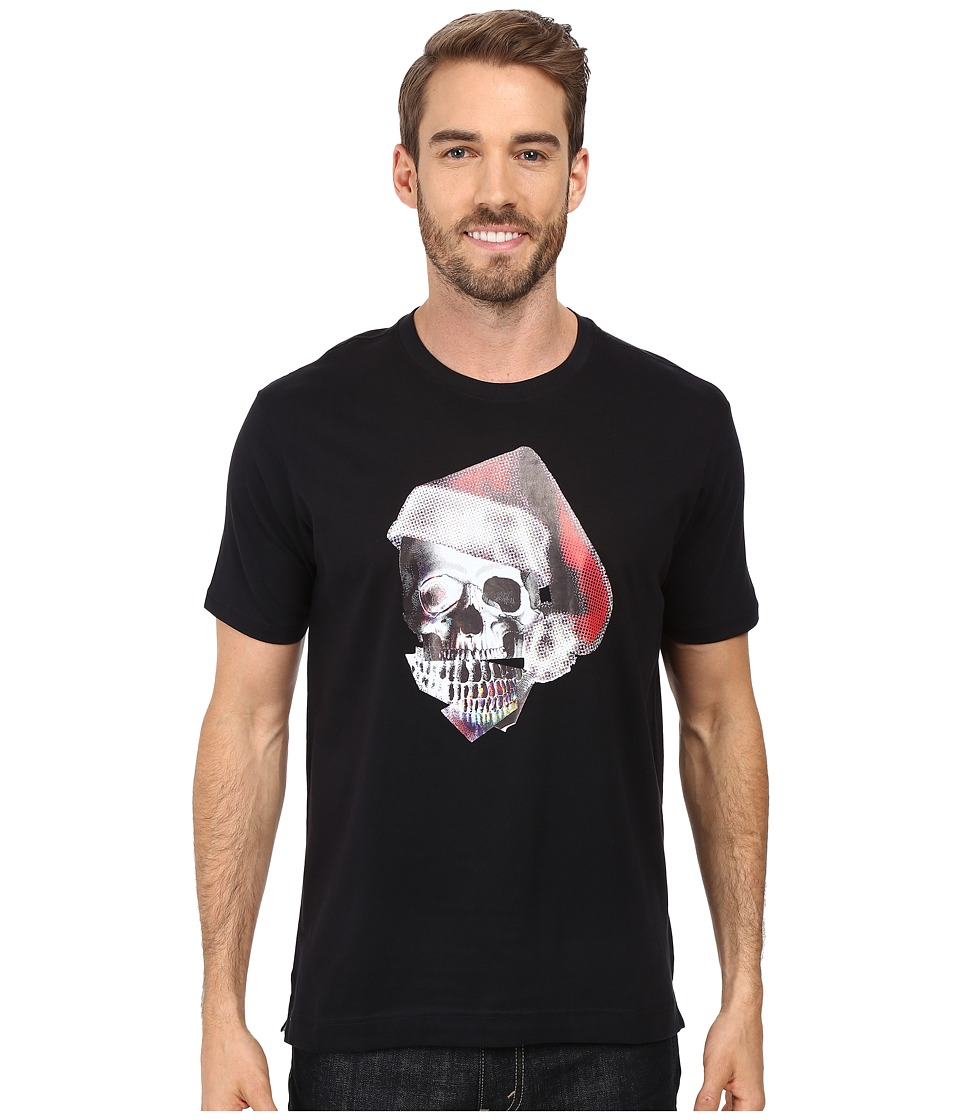 Robert Graham - Santa Skull T-Shirt (Black) Men's T Shirt