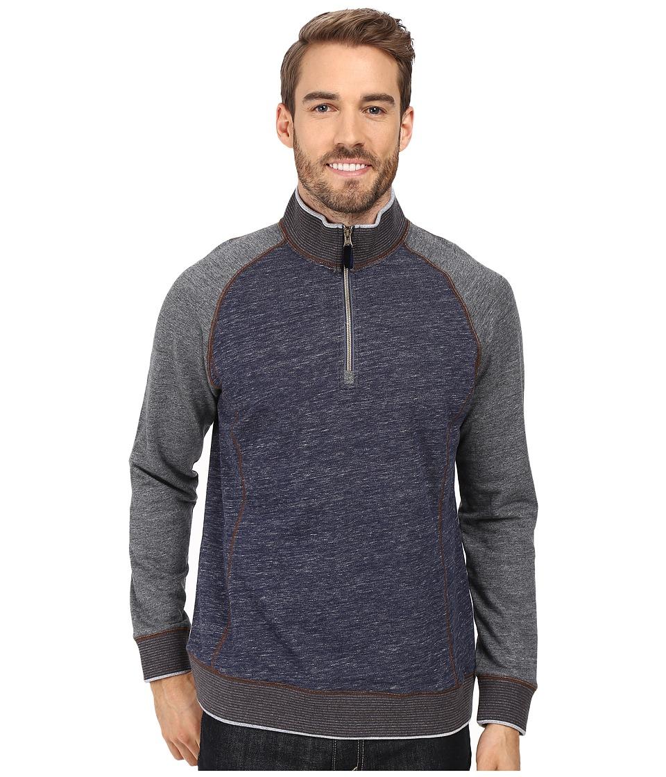 Robert Graham Stefano 1/2 Zip Sweater (Heather Indigo) Men