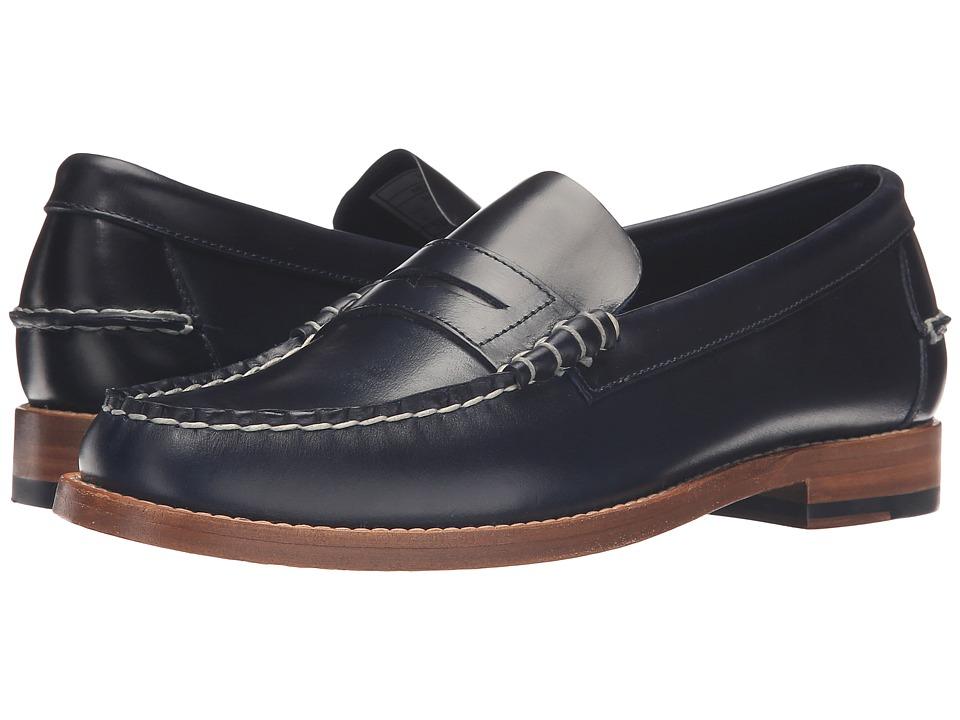 Sebago Legacy Penny (Navy Leather) Men