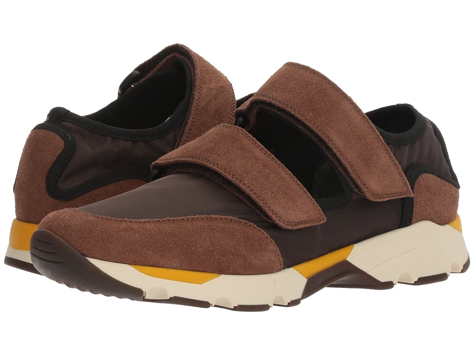 MARNI - Double Strap Neoprene Sneaker (Brown Cacao) Men's Shoes