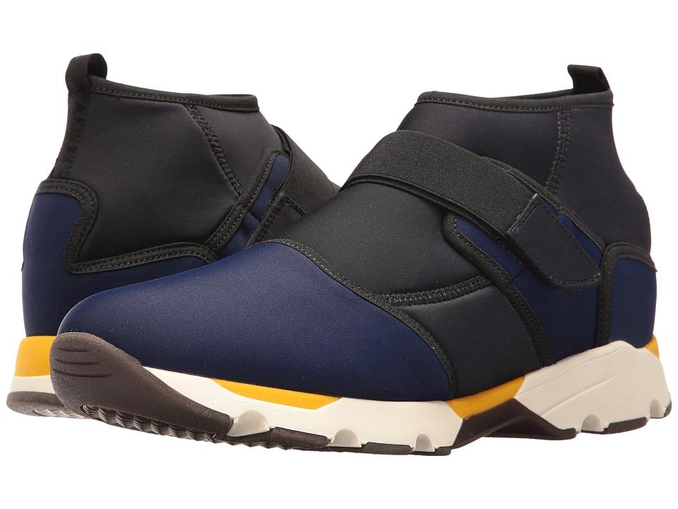 MARNI - Mid Ankle Neoprene Sneaker (Blue/Black) Men's Shoes