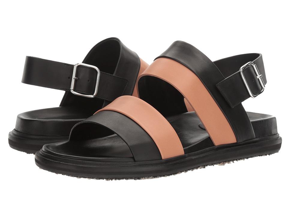 MARNI Multicolor Leather Sandal (Black/Pink) Men
