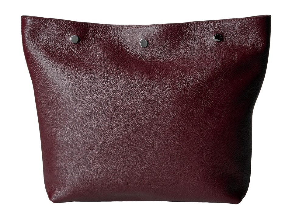 MARNI - Leather Pouch (Burgundy) Travel Pouch