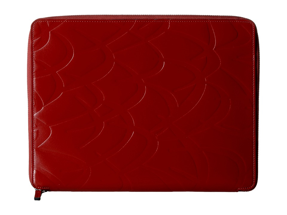 MARNI - Flutter Print Tech Case (Rust) Wallet