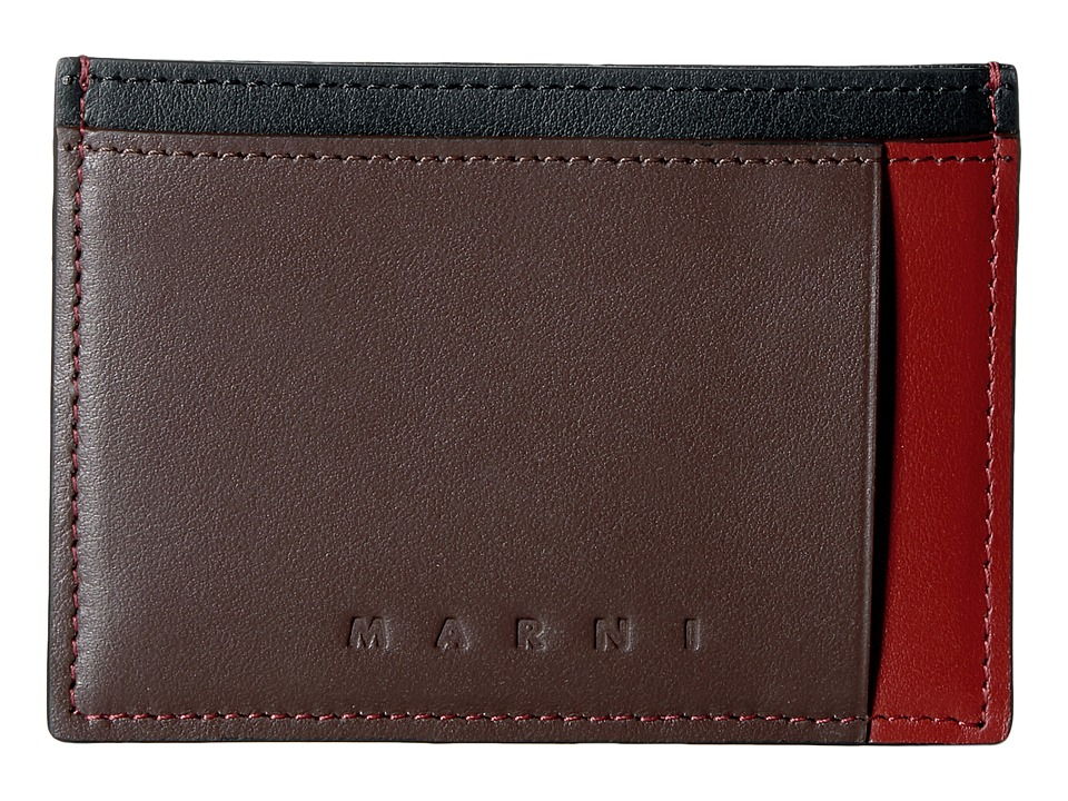 MARNI - Multicolor Card Holder (Rust/Brown/Black) Credit card Wallet