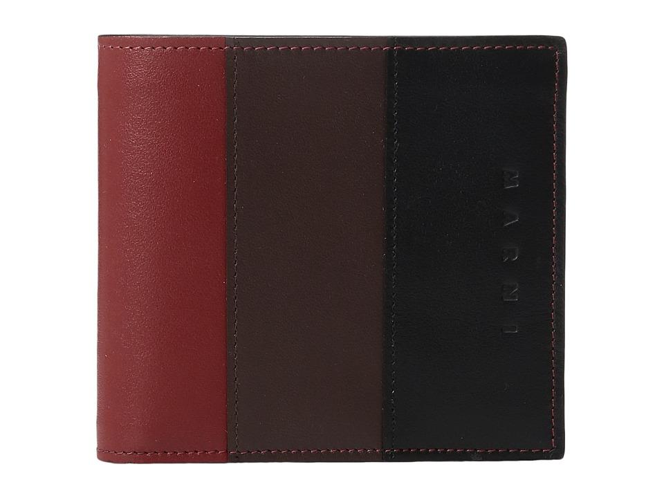 MARNI - Multicolor Wallet (Rust/Brown/Black) Wallet Handbags