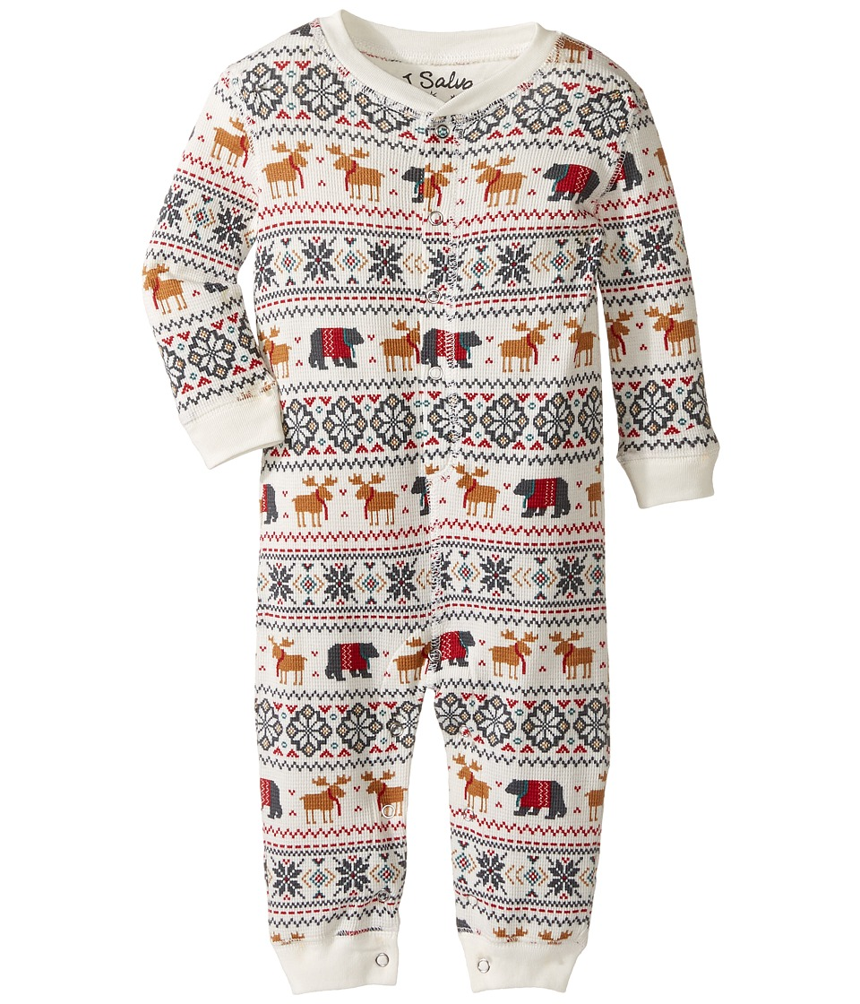 P.J. Salvage Kids - Romper - Fair Isle (Infant) (Natural) Kid's Jumpsuit & Rompers One Piece