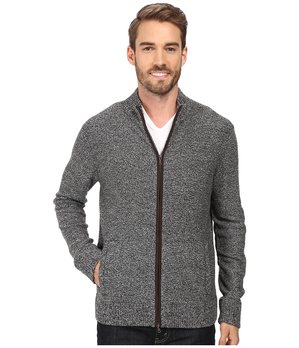 Robert Graham - Gianluca Full Zip Sweater (Heather Black) Men's Sweater