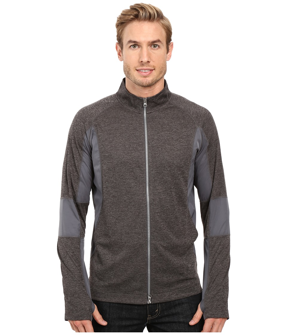 Robert Graham - Zane Full Zip Track Jacket (Carbon) Men's Coat