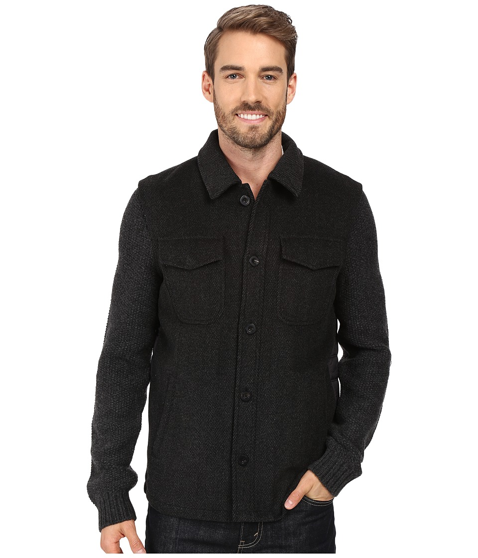 Robert Graham - Prof. Hinkle Sweater Jacket (Black) Men's Sweater