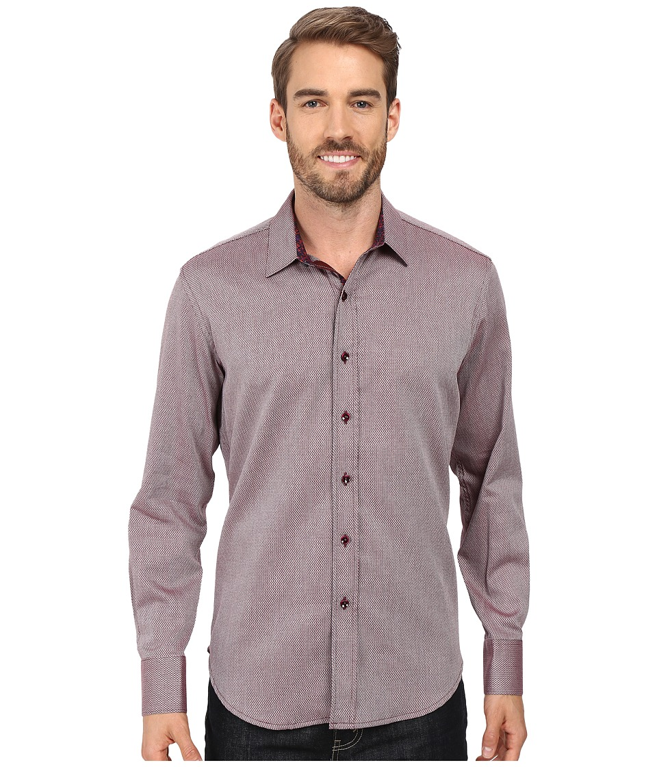 Robert Graham - Boden Long Sleeve Woven Shirt (Burgundy) Men's Clothing
