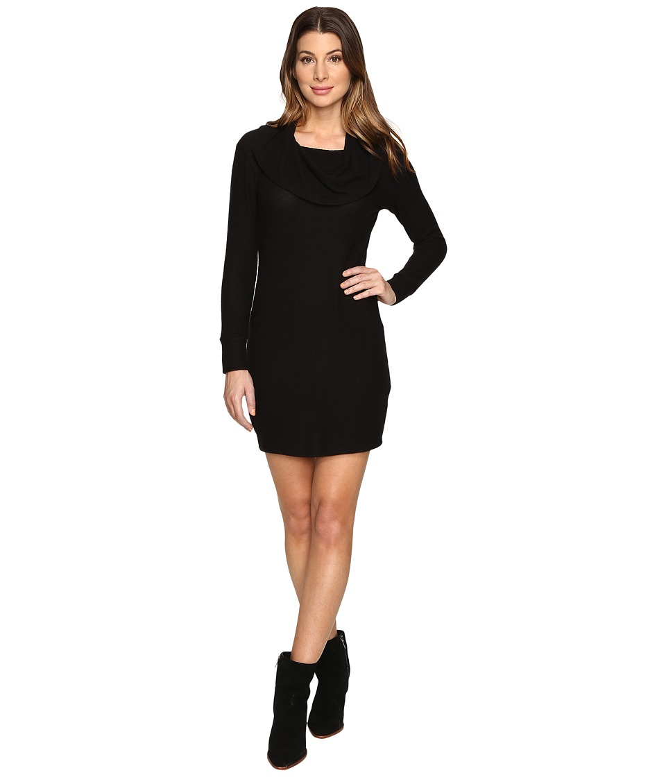 LNA Brenda Scarf Dress (Black) Women
