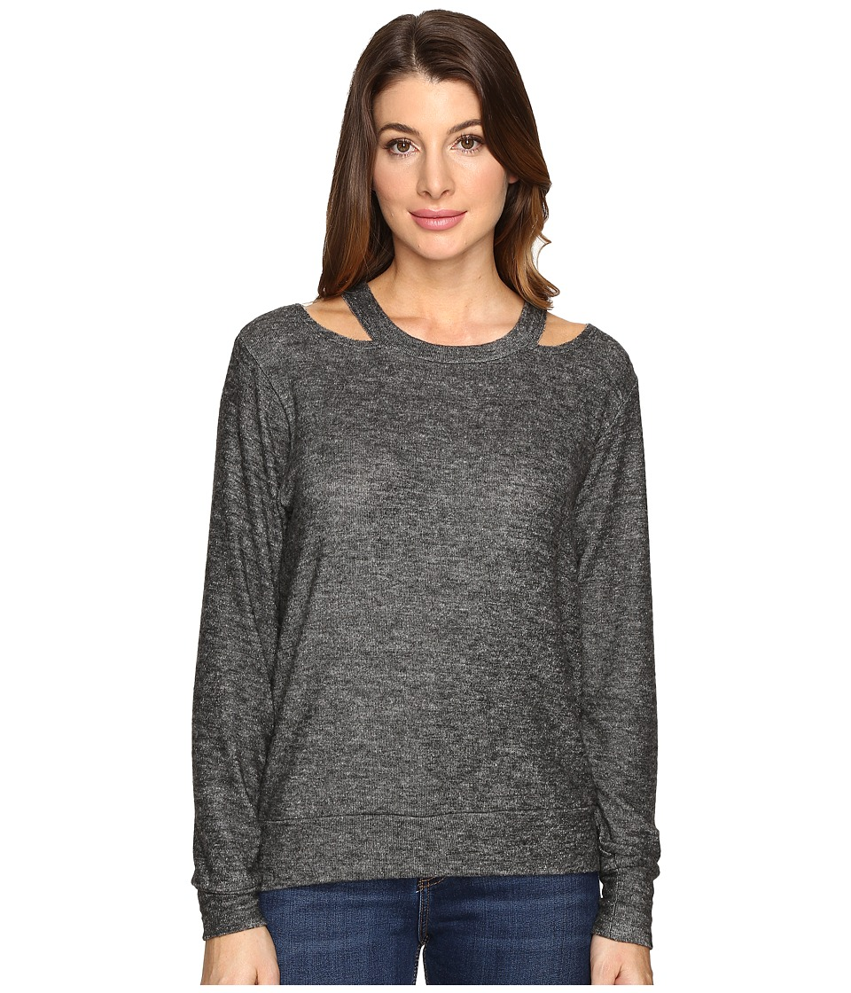 LNA - Bolero Cut Out Sweater (Melange Grey) Women's Sweater