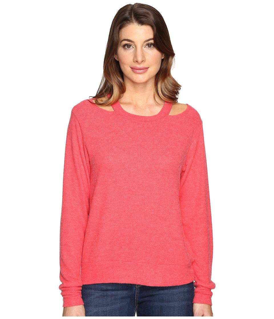 LNA - Bolero Cut Out Sweater (Red) Women's Sweater