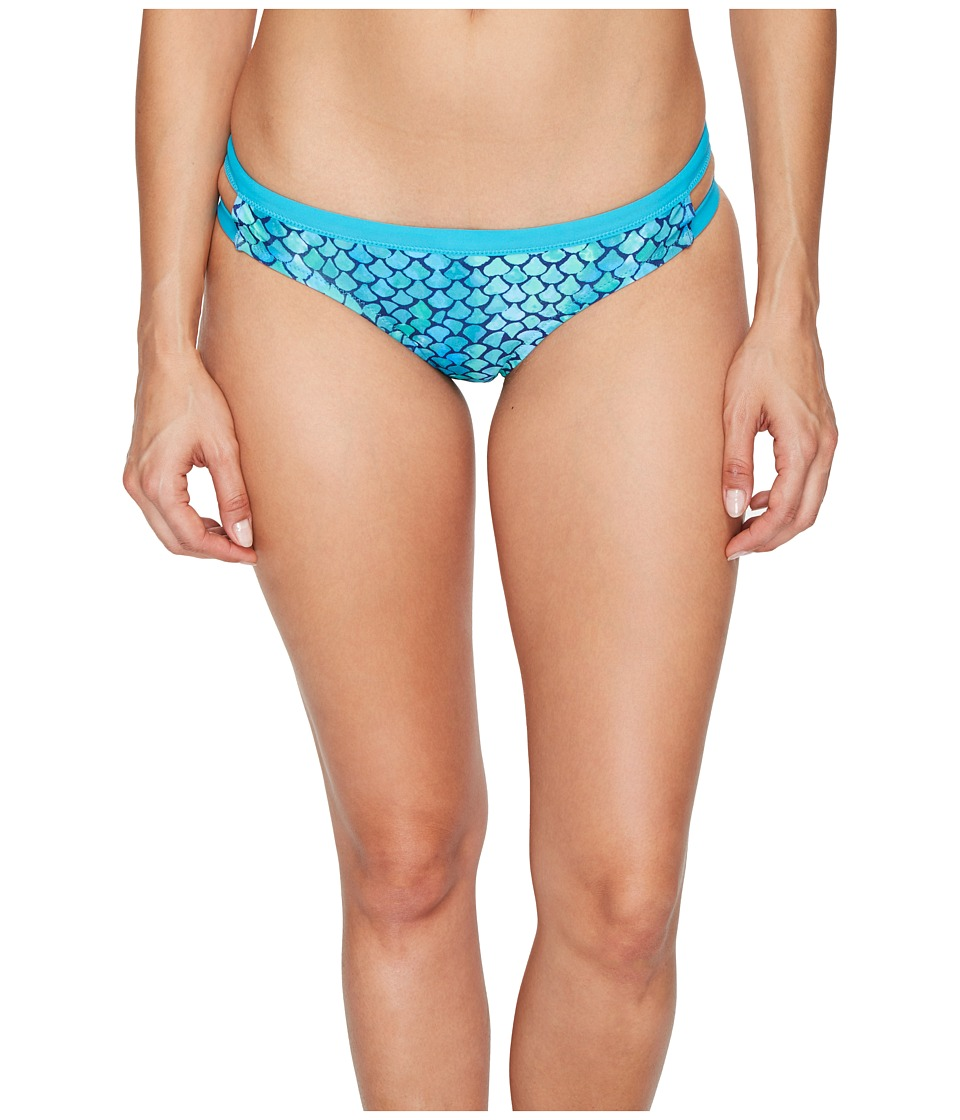 Speedo - Double Band Bottom (Blue/Green) Women's Swimwear