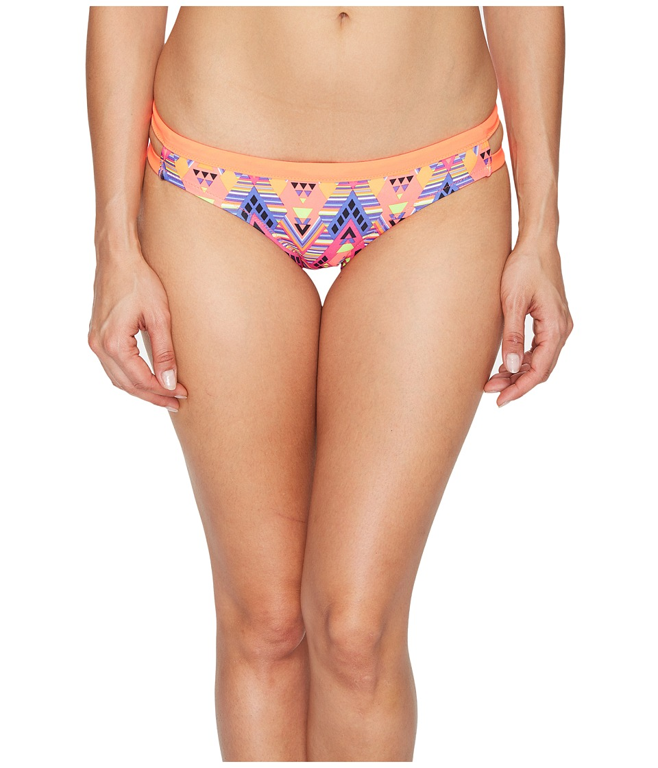 Speedo - Double Band Bottom (Pink/Orange) Women's Swimwear