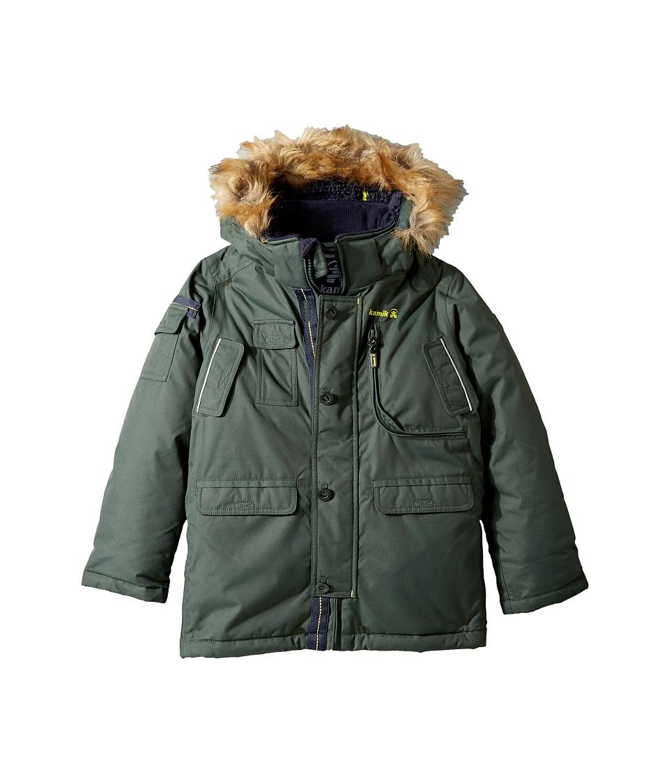 Kamik Kids - Quin Winter Jacket (Todder/Little Kids) (Forest) Boy's Coat