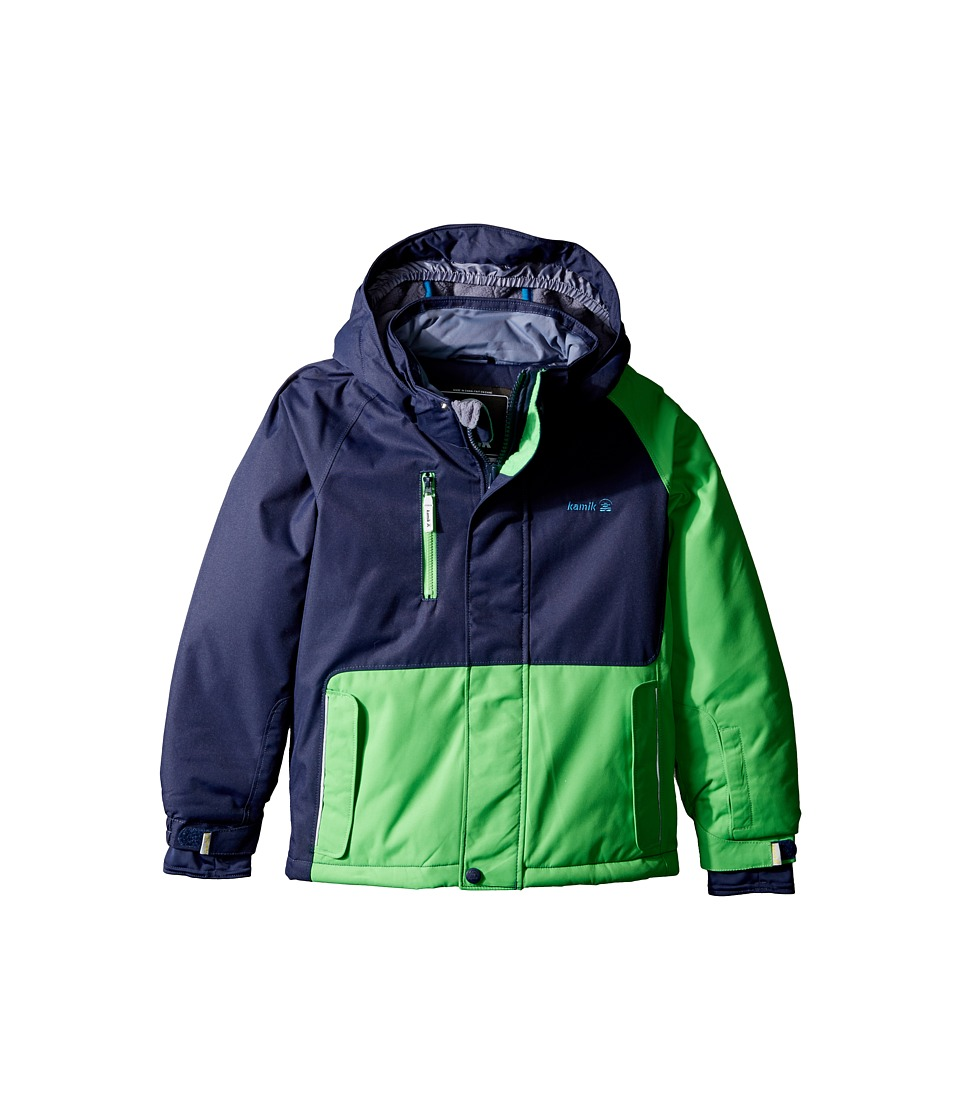Kamik Kids - Hunter Colour Block (Toddler/Little Kids) (Classic Green) Boy's Coat