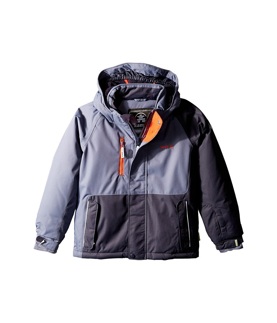 Kamik Kids - Hunter Colour Block (Toddler/Little Kids) (Graphite) Boy's Coat