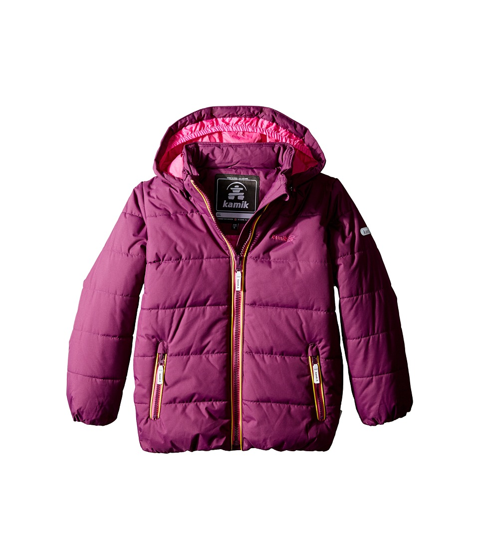 Kamik Kids - Avery Winter Jacket (Toddler/Little Kids) (Dark Purple) Girl's Coat